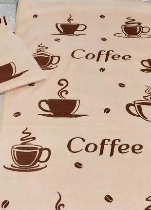 Кухонные полотенца из микрофибры coffee