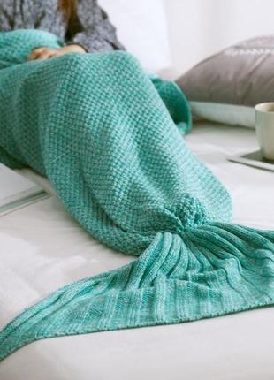 Ексклюзив!!! нереально красивий затишний вязаний плед-рибка (х...