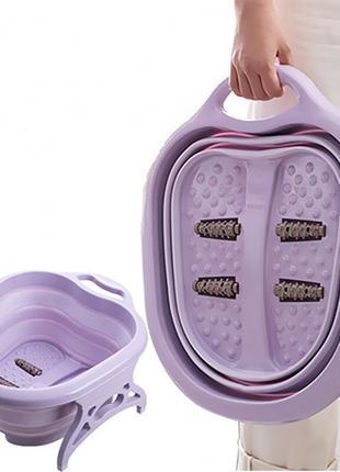 Складная массажная ванночка для ног, спа-ванна для педикюра, ц...