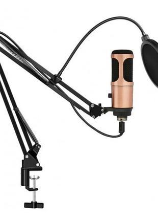 Микрофон студийный проводной для записи UKC-M900USB, штатив и ...
