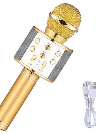 Микрофон караоке беспроводной с колонкой Bluetooth USB WS-858,...