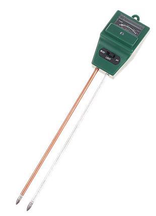 Анализатор почвы 3в1 измеритель pH, влажности, освещенности ET...
