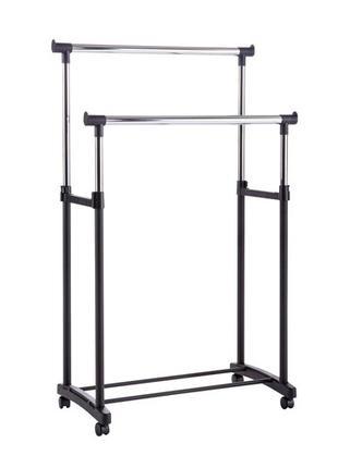 Напольная стойка вешалка для одежды L до 30кг, 130x45x160см ре...