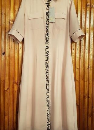 Стильное платье рубашка sassofono на пуговицах.