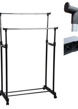 Напольная стойка вешалка для одежды M до 30кг, 72х37х135см рег...