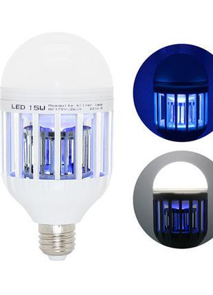 Лампа светодиодная ловушка для уничтожения комаров насекомых 1...