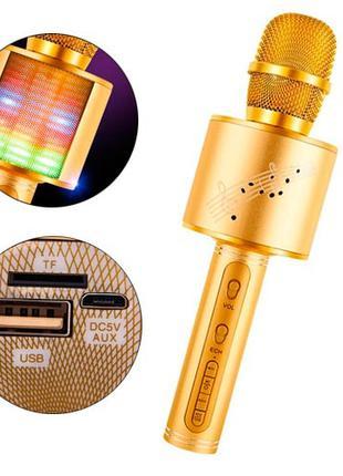 Микрофон караоке беспроводной с колонкой Bluetooth USB YS-66, ...
