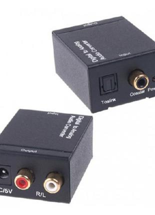 Конвертер ЦАП Toslink, Coaxial - RCA цифра-аналог