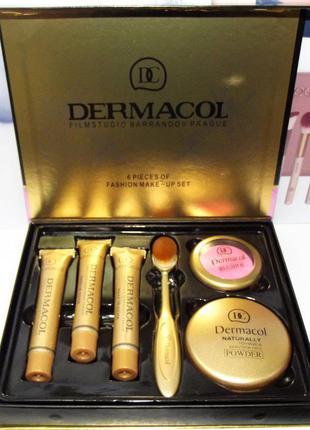 Тональный крем Dermacol набор, 3 тональных крема+кисть+пудра+р...