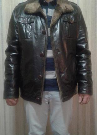 Зимняя кожаная куртка, дубленка, кожанка, зимняя куртка