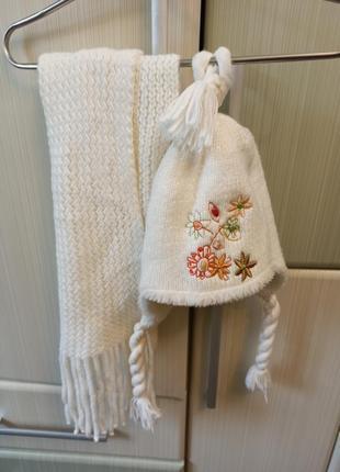 Шапка шарф детский комплект