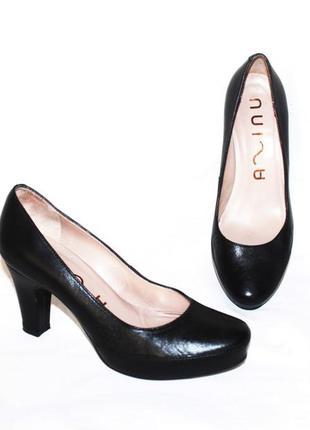 Комфортные туфли натуральная кожа unisa