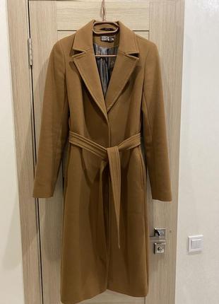 Классическое шерстяное пальто Season горчичного цвета