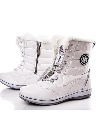 Зимние женские белые спортивные ботинки sayota