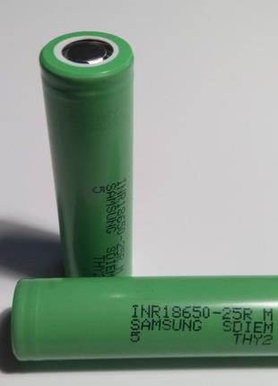Аккумулятор высокотоковый Samsung INR18650-25R(M) 3.6V 2500mAh...