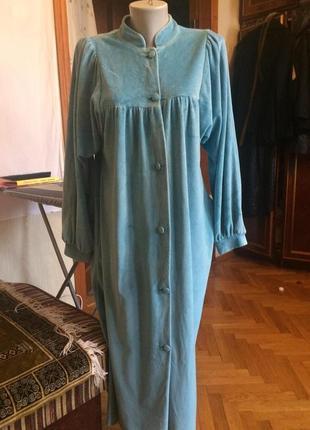 Велюровый халат,длинный от бренда от бренда c&a,одежда для все...