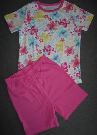 Летняя пижама с цветочками george 12-18 мес
