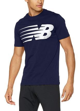 Модная мужская футболка с большим лого new balance