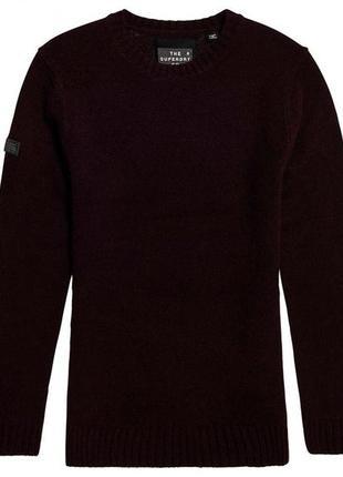 Теплый свитер гранатового цвета superdry