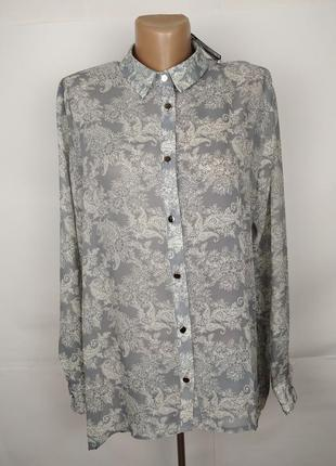 Блуза новая легкая в принт atmosphere uk 12/40/m