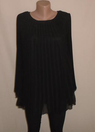 Шифоновая плиссированая блуза/блузка плиссе/плліссе