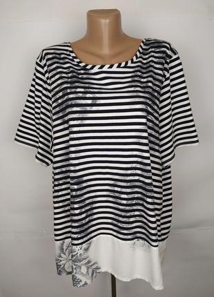 Блуза трикотажная красивая в полоску большой размер george uk ...