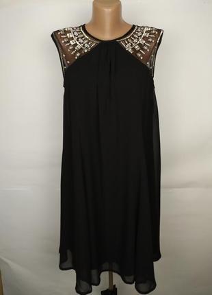 Платье новое шикарное шифоновое вышивка бисер камни papaya uk ...