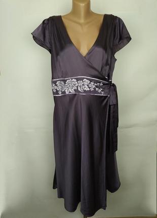 Платье халат шелковое красивое на запах большой размер moonsoo...