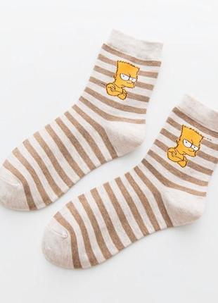 7-40 круті шкарпетки bart simpson носки симпсоны