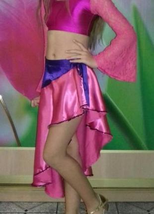 Яркий красивый костюм для танцев , карнавальный боди и юбка со...