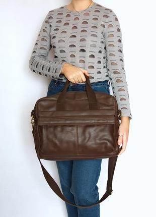 Сумка для ноутбука, деловая сумка, pier one, кожа