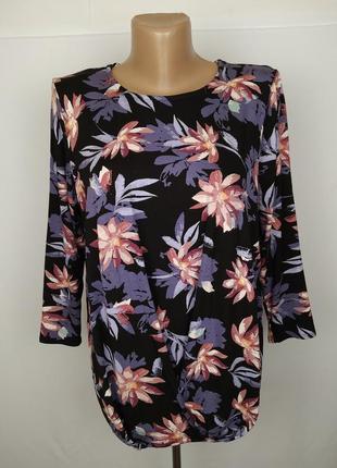 Блуза стильная трикотажная в цветочный принт tu uk 10/38/s