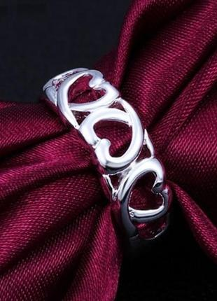 🏵красивое кольцо в серебре 925 сердце, 17 р,, новое! арт. 2472