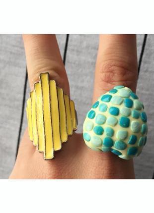 Набір колечок, кольцо, 2 шт., украшение, біжутерія, кольцо, ма...