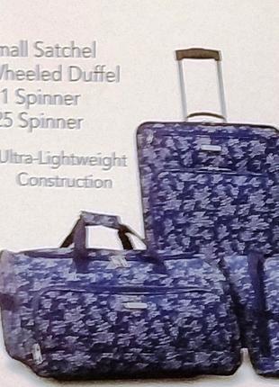 "Чемодан 4 колесах + сумка на чемодан  ""American Tourister """