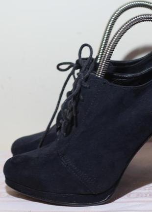 Замшевые туфли, ботильоны на шнуровке