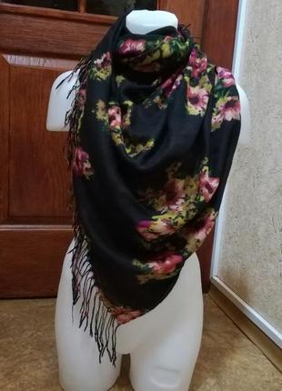 Большой шарф с бахромой 200/80