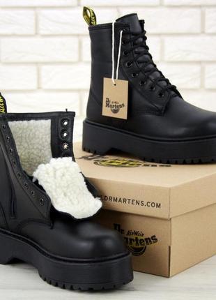 Ботинки dr martens jadon на платформе полностью черные