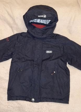 Зимняя мембранная термо куртка Brugi р. 116-122 на 6-7 лет.