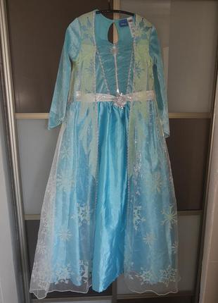 Карнавальный костюм детский платье принцессы эльза снежинка фр...