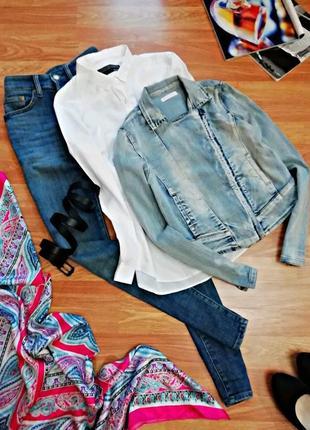 Женская крутая стильная джинсовая куртка - косуха италия - раз...