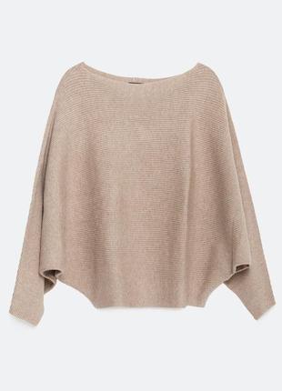 В наличии - джемпер с рукавом летучая мышь *zara knit* р. m