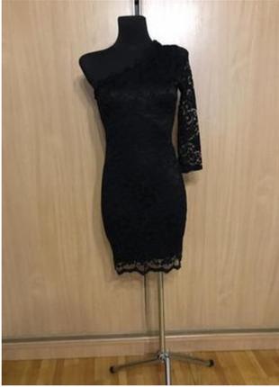 Шикарное ажурное платье на одно плечо!!!