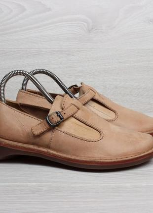 Женские кожаные интересные туфли clarks originals, размер 37 -...