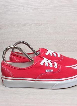 Красные кеды vans оригинал, размер 36.5 - 37