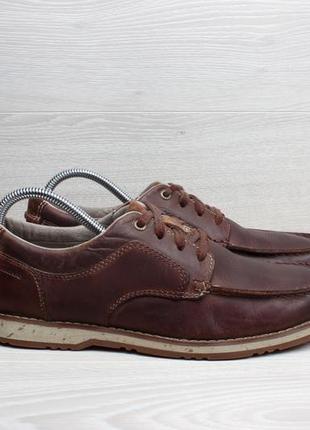 Кожаные мужские мокасины clarks оригинал, размер 41 - 41.5 (то...