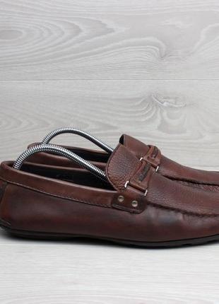 Мужские кожаные мокасины massimo dutti, размер 43