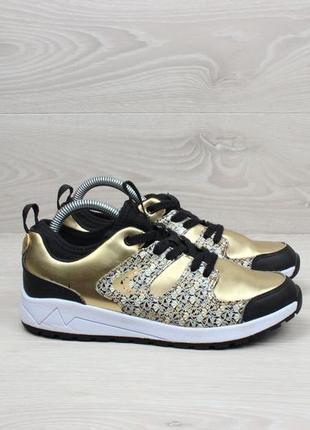 Красивые золотистые кроссовки clarks оригинал, размер 35