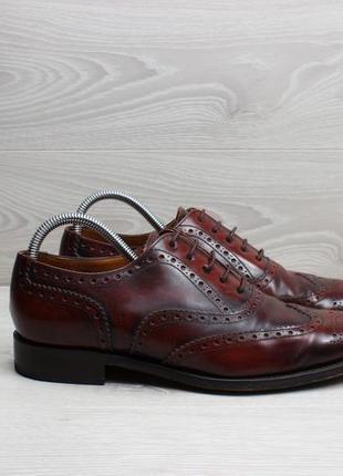 Кожаные мужские туфли броги jones bootmaker, размер 41 - 41.5
