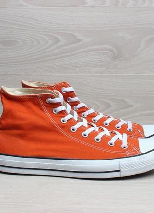 Высокие оранжевые мужские кеды converse all star оригинал, раз...